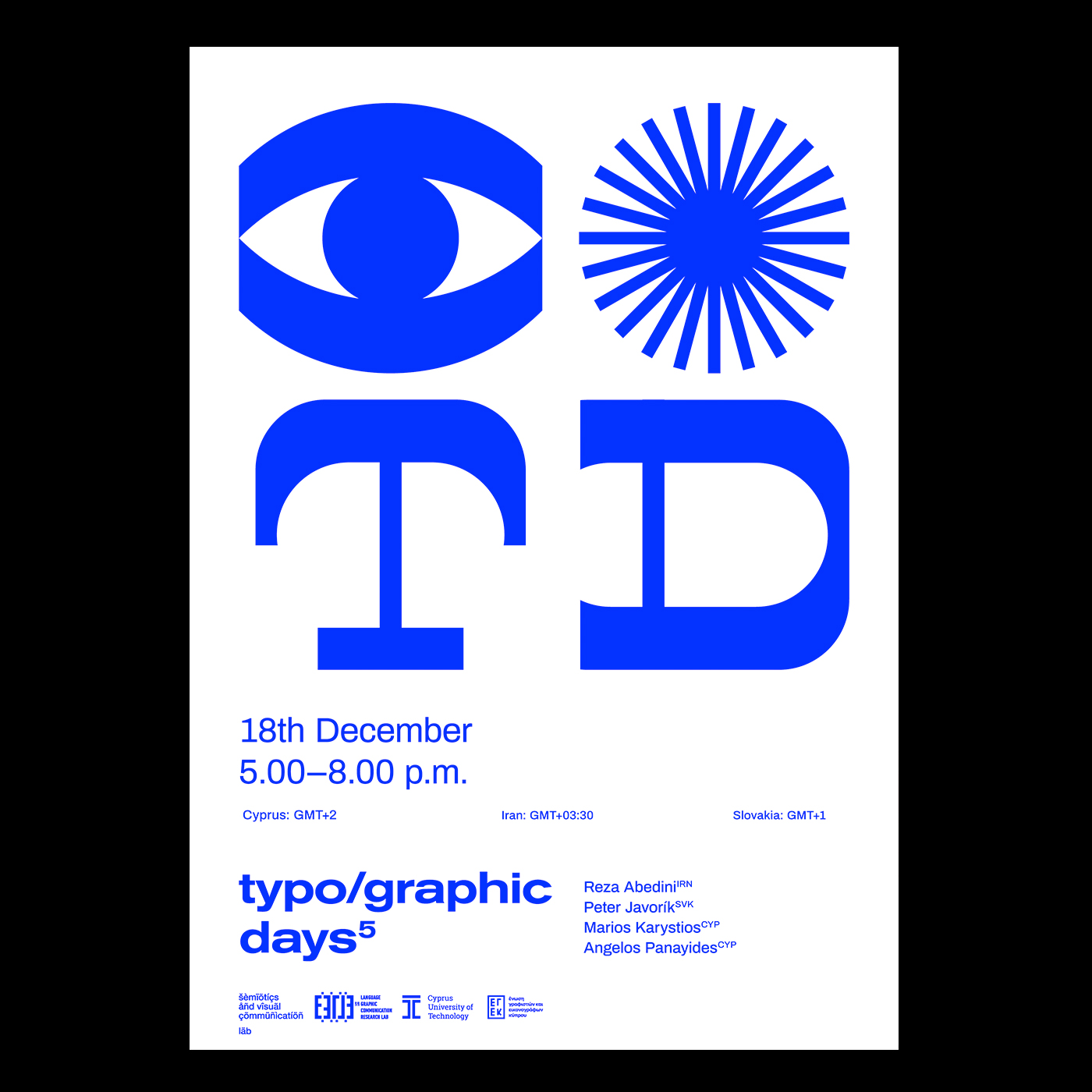 typographic days event poster